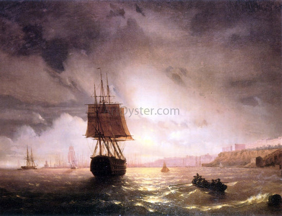 Ivan Constantinovich Aivazovsky The Harbor At Odessa On The Black Sea - Canvas Art Print