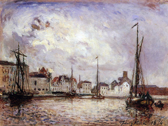 Johan Barthold Jongkind The Harbor: the Brussels Warehouse District - Canvas Art Print
