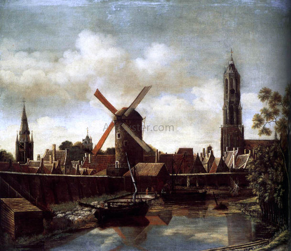 Daniel Vosmaer The Harbour of Delft - Canvas Art Print