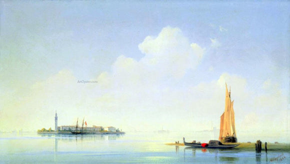 Ivan Constantinovich Aivazovsky The harbour of Venice, the Island of San-Georgio - Canvas Art Print