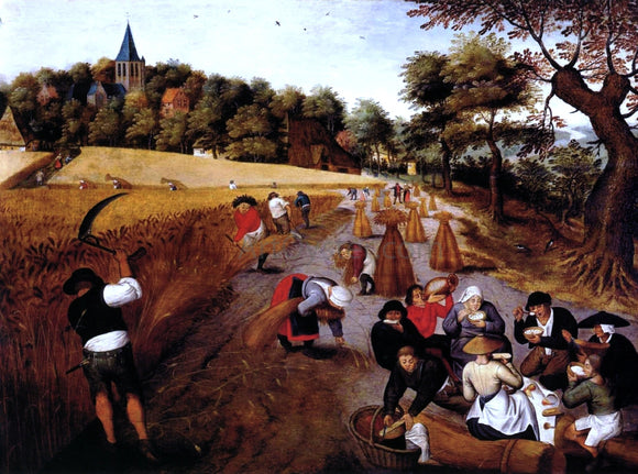 The Younger Pieter Bruegel The Harvest - Canvas Art Print