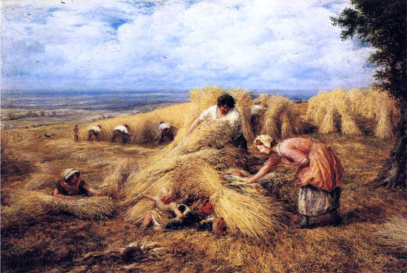 John Linnell The Harvest Cradle - Canvas Art Print
