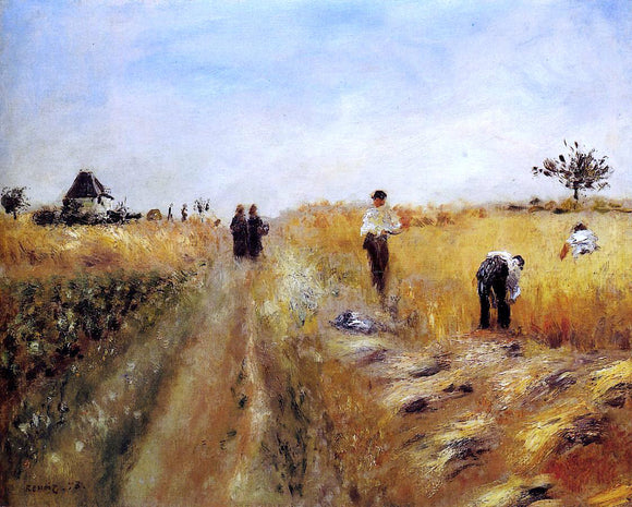 Pierre Auguste Renoir The Harvesters - Canvas Art Print