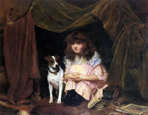 Charles Burton Barber The Hiding Place - Canvas Art Print