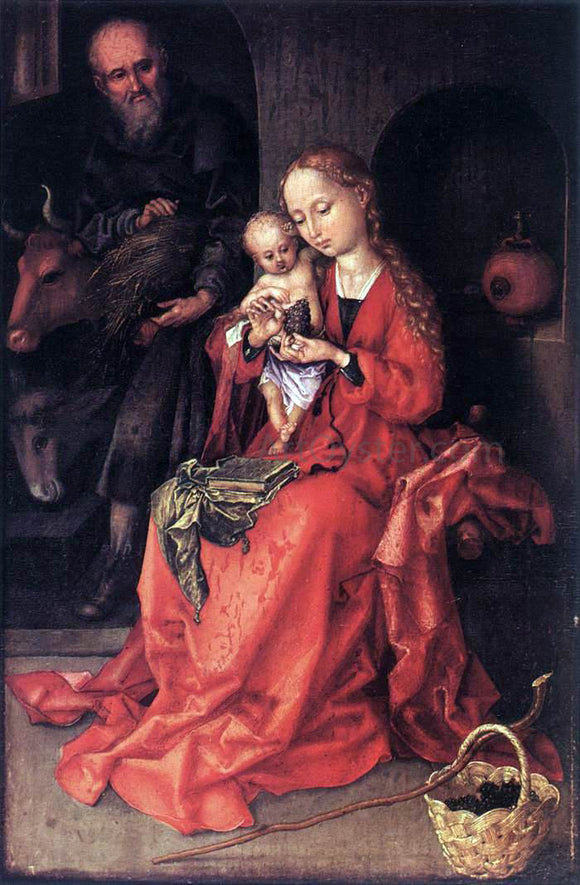 Martin Schongauer The Holy Family - Canvas Art Print