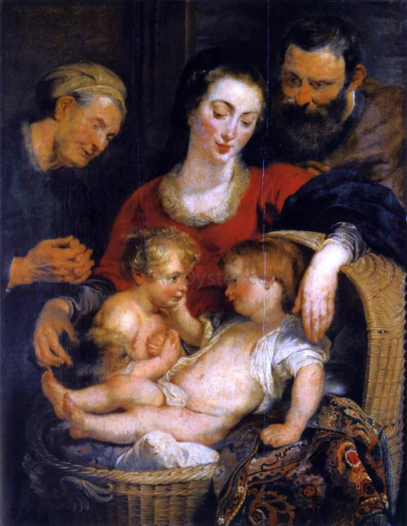 Peter Paul Rubens The Holy Family with St Elizabeth - Canvas Art Print