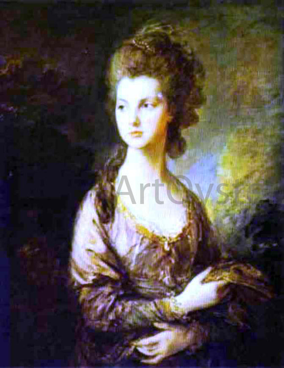 Thomas Gainsborough The Honorable Mrs. Graham - Canvas Art Print
