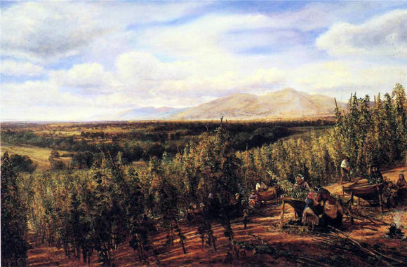 George Vicat Cole The Hop Gardens - Canvas Art Print
