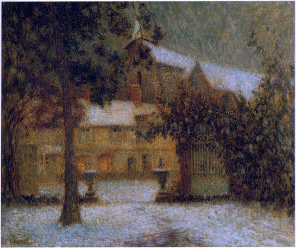 Henri Le Sidaner The House in the Snow - Canvas Art Print