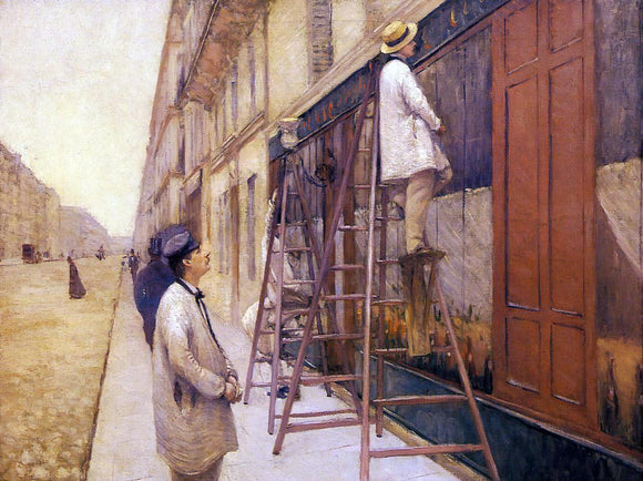 Gustave Caillebotte The House Painters - Canvas Art Print