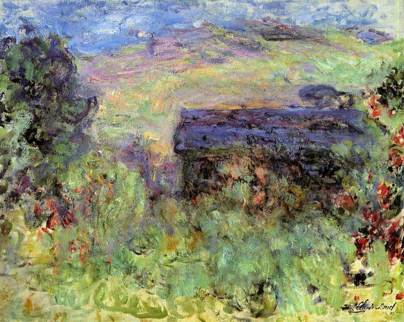 Claude Oscar Monet The House Seen Through the Roses - Canvas Art Print