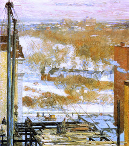 Frederick Childe Hassam The Hovel and the Skyscraper - Canvas Art Print