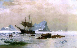 William Bradford the Ice Floes - Canvas Art Print