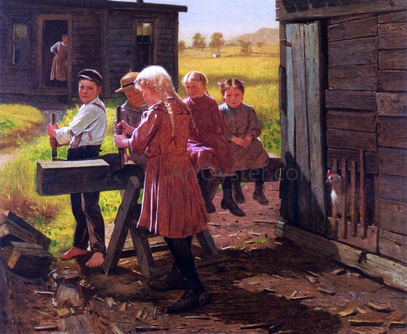 John George Brown The Industrious Family - Canvas Art Print