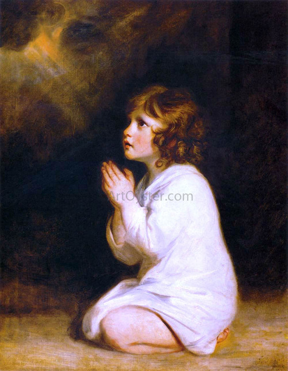 Sir Joshua Reynolds The Infant Samuel - Canvas Art Print