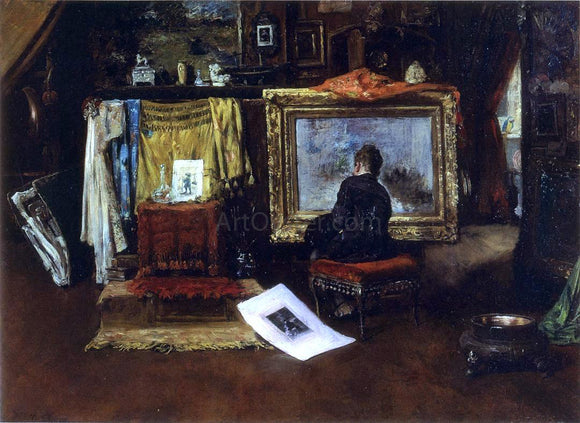 William Merritt Chase The Inner Studio, Tenth Street - Canvas Art Print