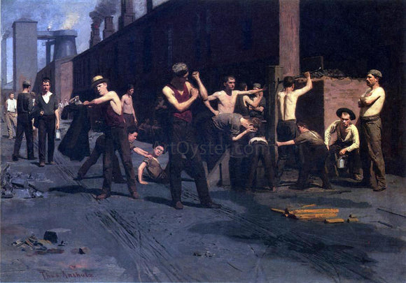 Thomas Pollock Anschutz The Ironworker's Noontime - Canvas Art Print