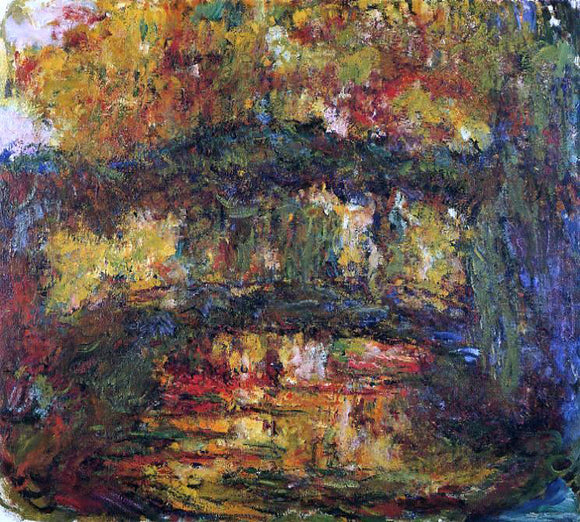 Claude Oscar Monet The Japanese Bridge - Canvas Art Print