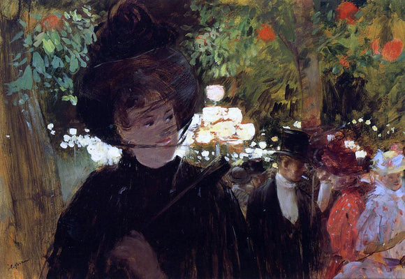 Jean-Louis Forain The Jardin de Paris - Canvas Art Print