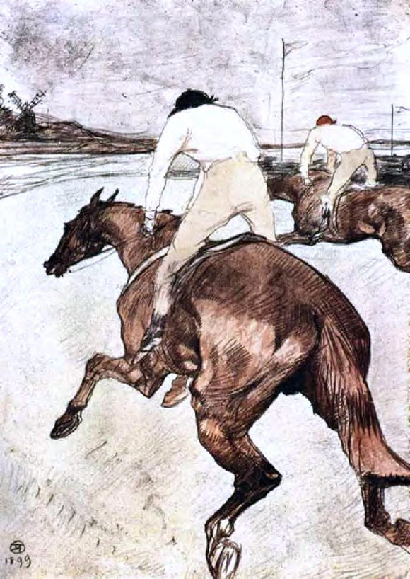 Henri De Toulouse-Lautrec The Jockey - Canvas Art Print