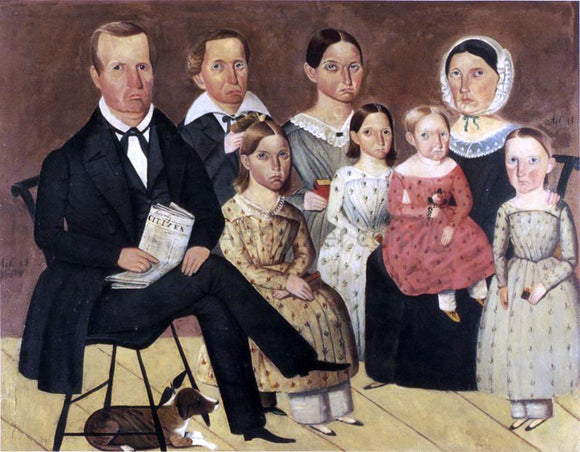 Sheldon Peck The John G. Wagner Family - Canvas Art Print