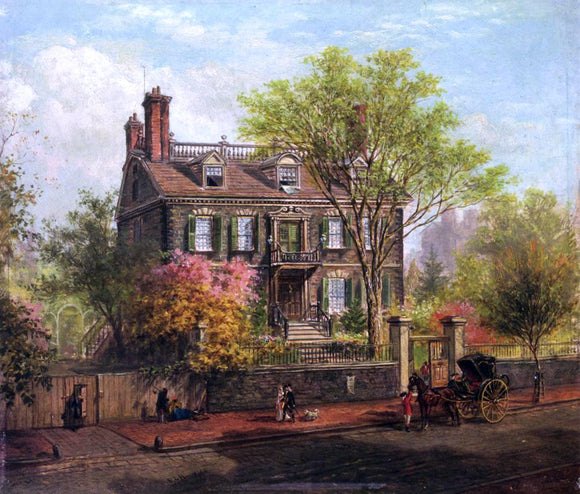 Edward Lamson Henry The John Hancock House - Canvas Art Print