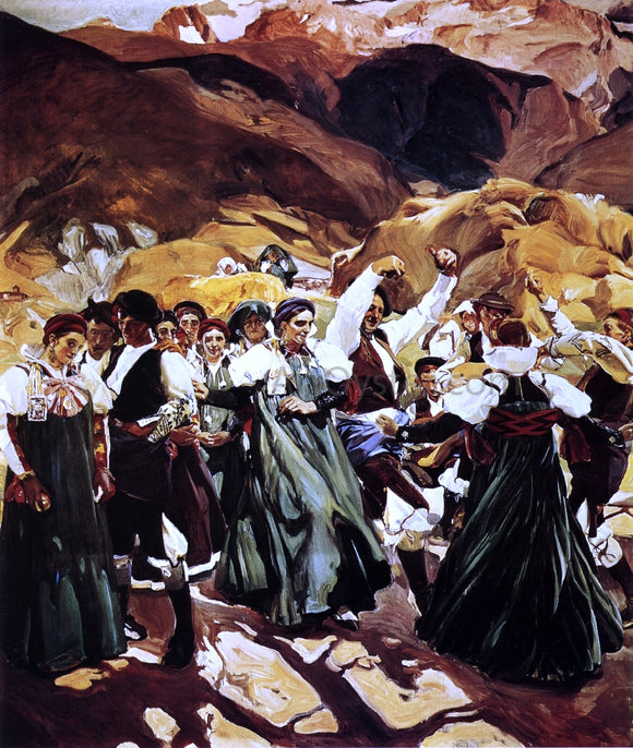 Joaquin Sorolla Y Bastida The Jota (Aragon) - Canvas Art Print