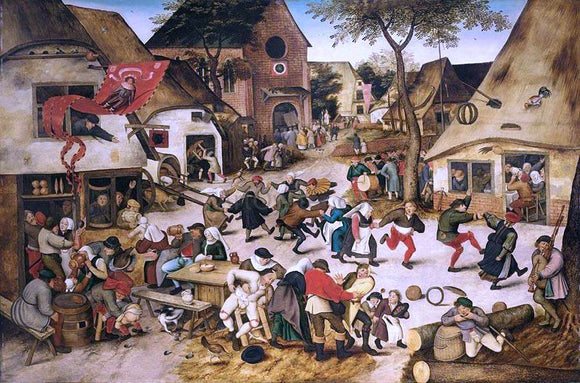 The Younger Pieter Brueghel The Kermesse of St George - Canvas Art Print