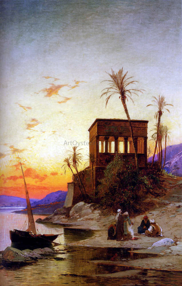 Hermann Solomon Corrodi The Kiosk of Trajan, Philae on the Nile - Canvas Art Print