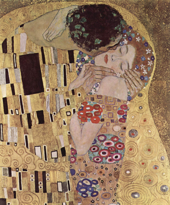 Gustav Klimt The Kiss Close Up - Canvas Art Print