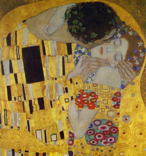 Gustav Klimt A Kiss Detail - Canvas Art Print