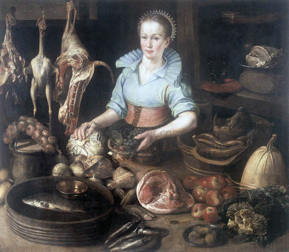 Pieter Cornelisz Van Rijck The Kitchen Maid - Canvas Art Print