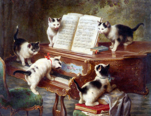 Carl Reichert The Kittens Recital - Canvas Art Print
