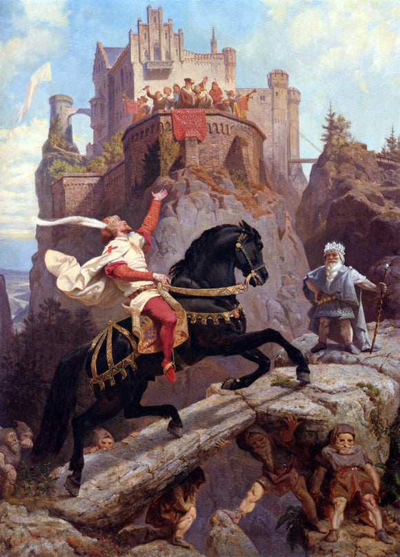 Emanuel Gottlieb Leutze The Knight of Sayn and the Gnomes - Canvas Art Print