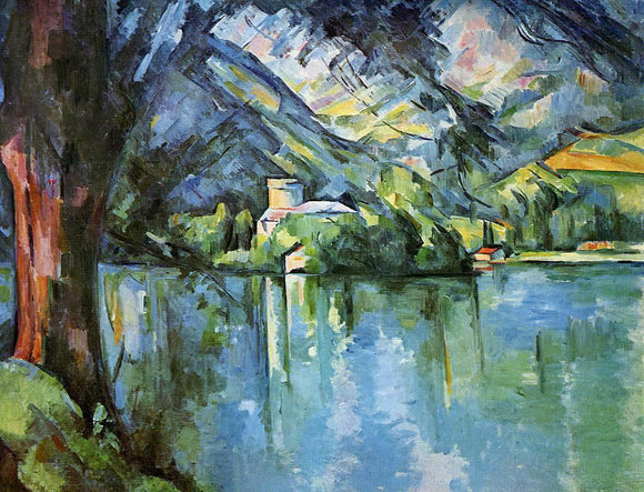 Paul Cezanne The Lac d'Annecy - Canvas Art Print