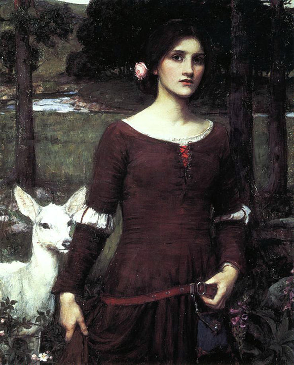 John William Waterhouse The Lady Clare - Canvas Art Print