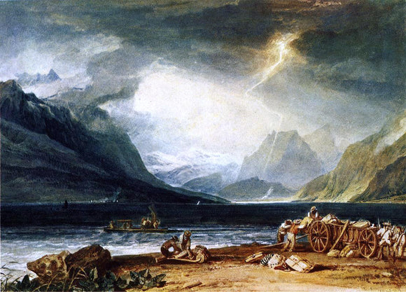 Joseph William Turner The Lake of Thun, Switzerland - Canvas Art Print
