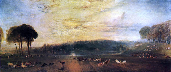 Joseph William Turner The Lake, Petworth: Sunset, Fighting Bucks - Canvas Art Print