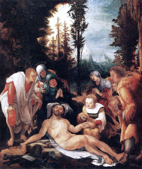 Wolf Huber The Lamentation of Christ - Canvas Art Print