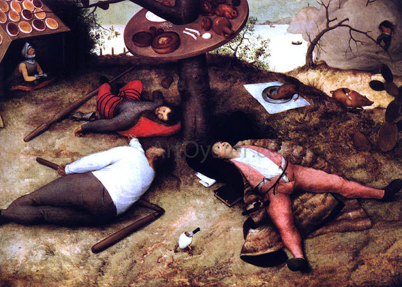 The Elder Pieter Bruegel The Land of Cockayne - Canvas Art Print