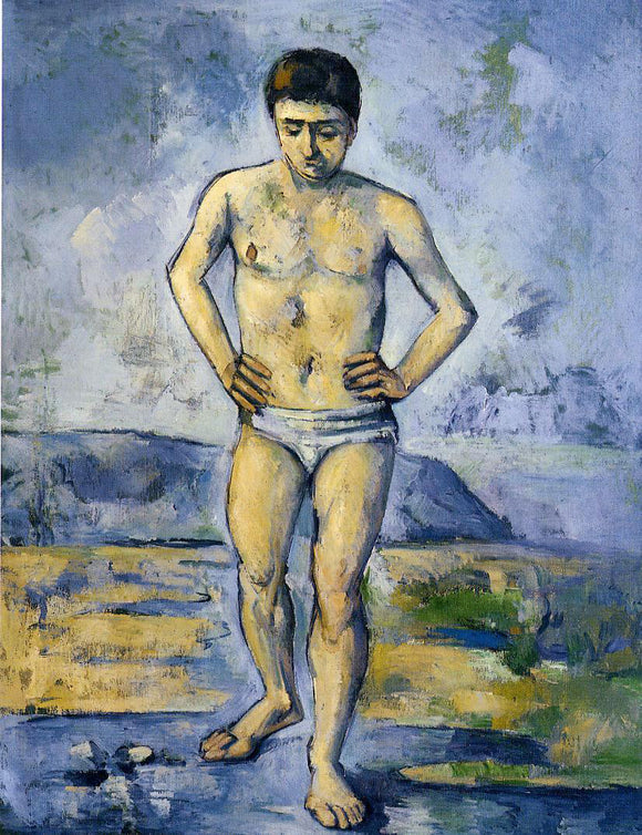 Paul Cezanne The Large Bather - Canvas Art Print
