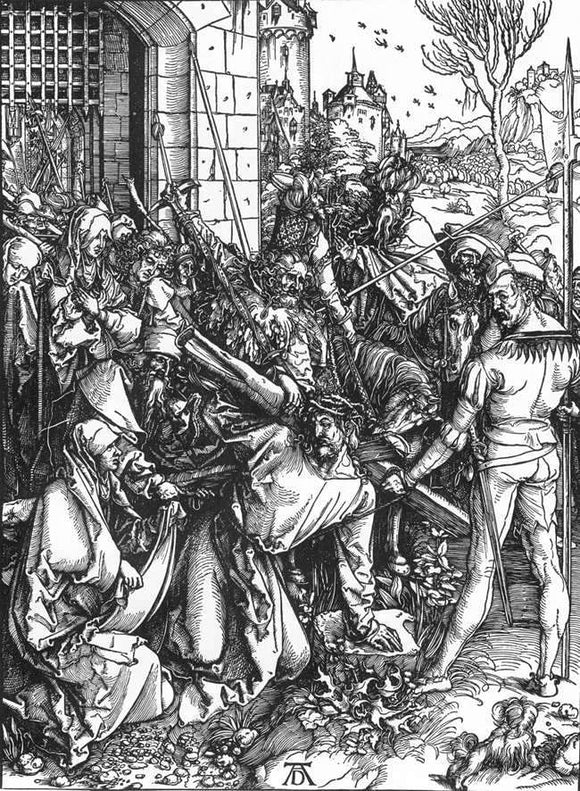 Albrecht Durer The Large Passion: 5. Christ Bearing the Cross - Canvas Art Print