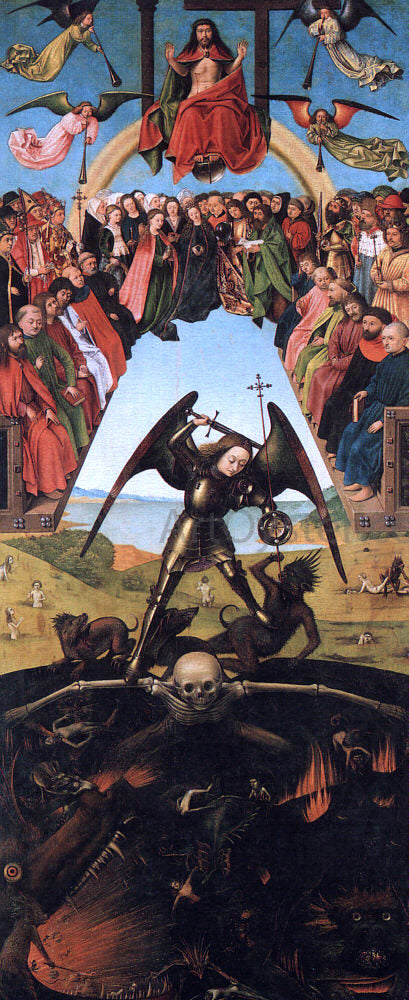 Petrus Christus The Last Judgement - Canvas Art Print
