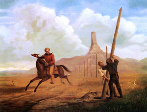 George M Ottinger The Last Ride of the Pony Express of 1861 - Canvas Art Print