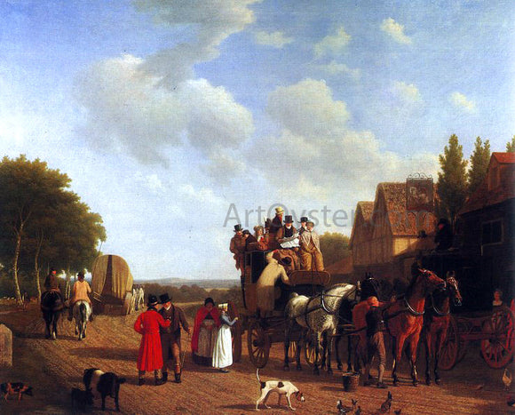Jacques-Laurent Agasse The Last Stage on the Portsmouth Road - Canvas Art Print