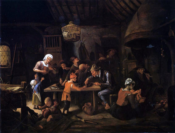 Jan Steen The Lean Kitchen - Canvas Art Print