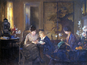 Edmund Tarbell The Lesson - Canvas Art Print