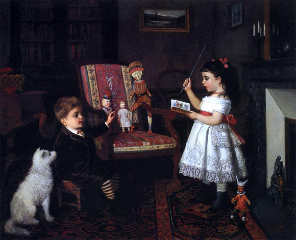 James Wells Champney The Lesson - Canvas Art Print