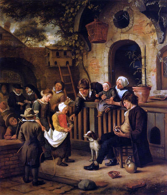 Jan Steen The Little Alms Collector - Canvas Art Print