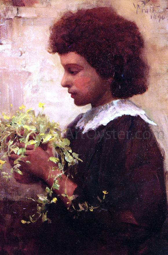 William Pratt The Little Gardener - Canvas Art Print
